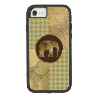 African Elephant on Map and Argyle Case-Mate Tough Extreme iPhone 8/7 Case