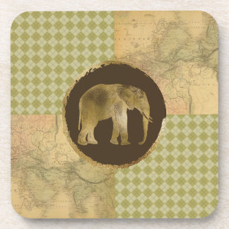 African Elephant on Map and Argyle Coaster