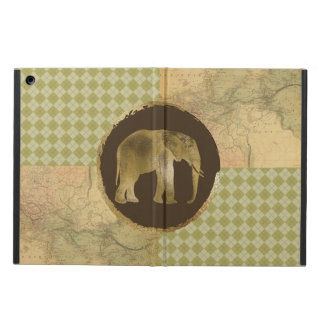 African Elephant on Map and Argyle iPad Air Case