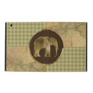 African Elephant on Map and Argyle iPad Case