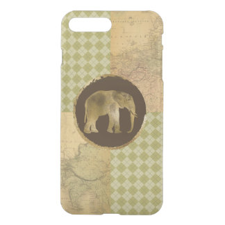 African Elephant on Map and Argyle iPhone 8 Plus/7 Plus Case
