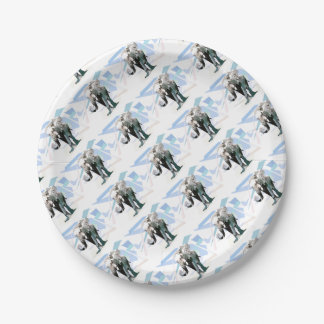 African elephant paper plate