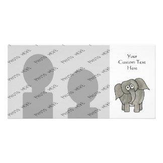 African Elephant Customized Photo Card