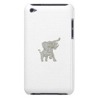 African Elephant Prancing Mono Line iPod Touch Cases