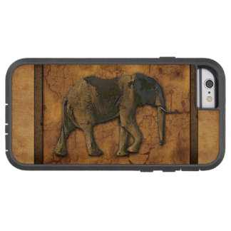 African Elephant & Rustic Background Tough Xtreme iPhone 6 Case