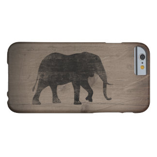 African Elephant Silhouette Rustic Style Barely There iPhone 6 Case