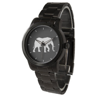 African Elephant Silhouette Watch