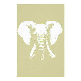 African Elephant Stationery Design