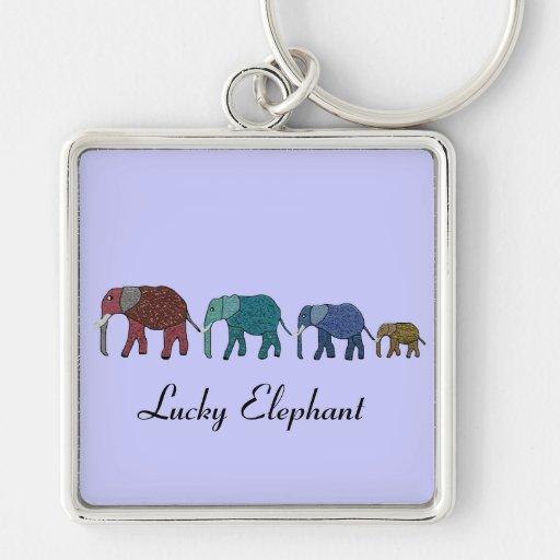 African Elephant Walk Key Chains