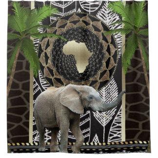 African Elephant Walk Shower Curtain