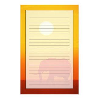 African elephant walking at sunset , Kenya Stationery Design