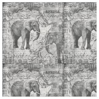 African Elephants Fabric