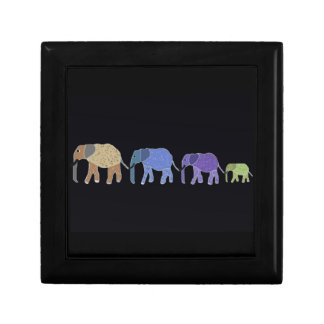 African Elephants Jewelry Box