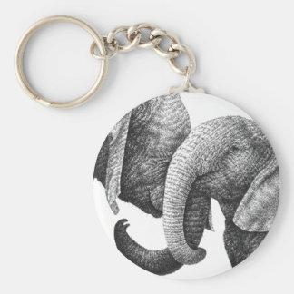 African Elephants Keychain