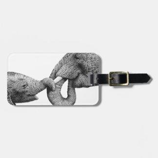 African Elephants Luggage Tag