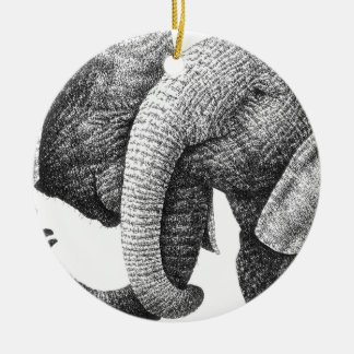 African Elephants Ornament