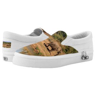 African Elephants Safari Wildlife Slip-On Shoes