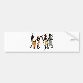 African Ethnic Native tribal design Bumper Sticker