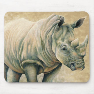 African Expressions - White Rhino Mouse Pad