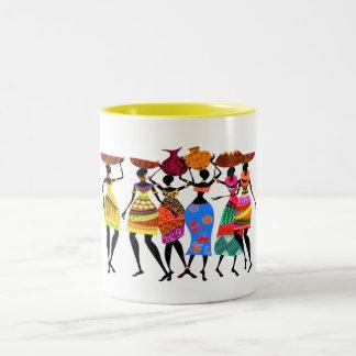 African Feast Two-Tone Coffee Mug