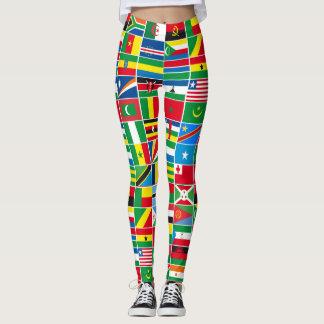 African Flags Leggings