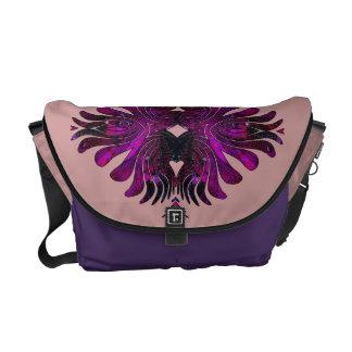 African Floral Messenger Bag