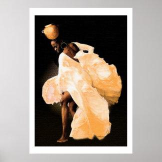 African Folk Dance Poster