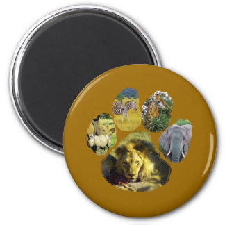 African Footprint Collage Refrigerator Magnets