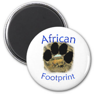 African Footprint Rhinos and Reeds Fridge Magnet
