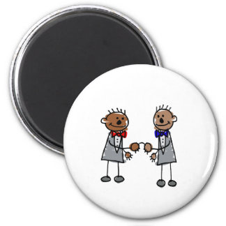 African Gay Couple 6 Cm Round Magnet