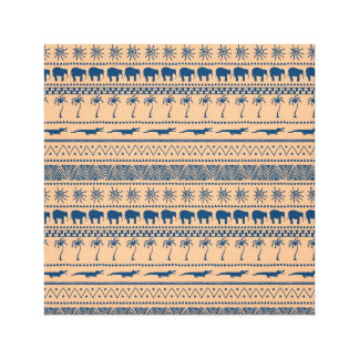 African geometrical  pattern. canvas print
