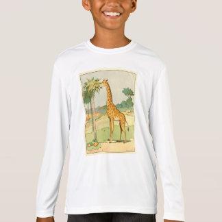 African Giraffe Eating Acacia Leaves T-Shirt