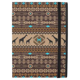 African Giraffe Geometric Ethnic Pattern