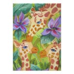 African Giraffe Kisses (Kimberly Turnbull Art)