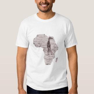 AFRICAN GIRAFFE TEE SHIRTS