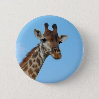 African Giraffe Wild Animal Photo Design 6 Cm Round Badge