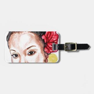 African Girl Luggage Tag