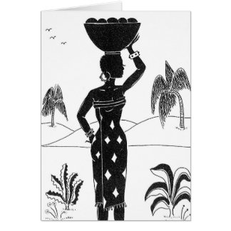 African Girl Silhouette cards