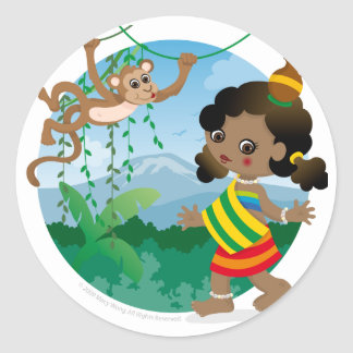 African girl stickers