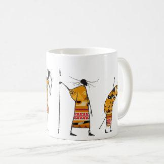 African Graphic, Tribal Hunters Coffee Mug