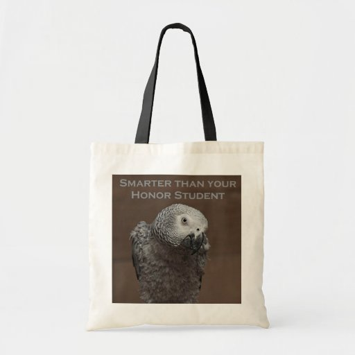 African Gray Parrot Smarter Than Your Honor Studen Bag
