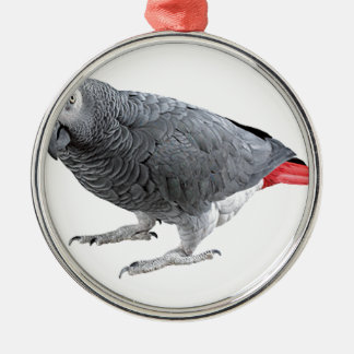 """""""African Grey"""" design gifts and products Silver-Colored Round Decoration"""