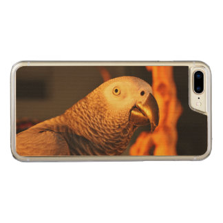 African Grey Gold Sunset Carved iPhone 7 Plus Case