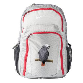 African Grey Gray Parrot rucksack backpack