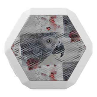 African Grey Love Letters White Boombot Rex Bluetooth Speaker