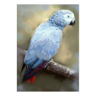 African Grey Parrot ACEO Art Trading Cards Pack Of Chubby Business Cards