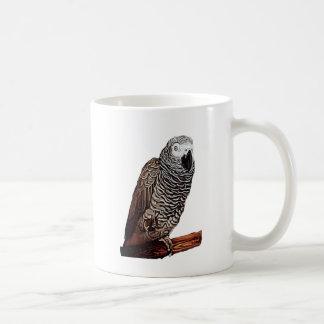 African Grey Parrot Basic White Mug