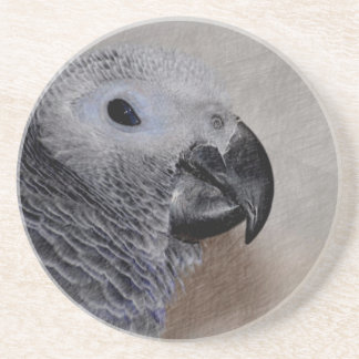 African Grey Parrot Beverage Coasters
