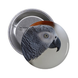 African Grey Parrot Buttons