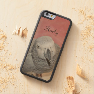 African Grey Parrot Carved® Maple iPhone 6 Bumper Case
